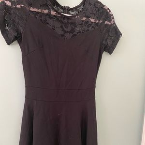 Dresses & Skirts - Black dress with lace on top